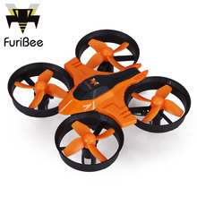 FuriBee F36 Mini UFO Quadcopter Drone 2.4G 4CH 6-Axis Headless Mode Remote Control Toys Nano RC Helicopter RTF Mode2 VS JJRC H36(China)