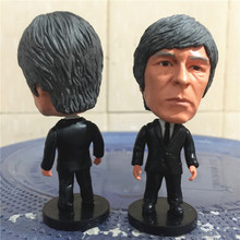 Soccerwe 2017 Season 2.55 Inches Height Football Coach Dolls Germans Joachim Loew Figure for Souvenir Gift Black Suit