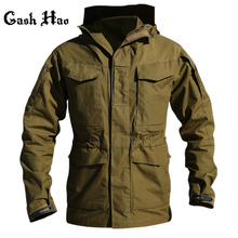 M65 UK US Army Clothes Hiking Tactical Outdoors Windbreaker Men Winter Thermal Flight Pilot Coat Hoodie Military Field Jacket(China)