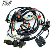 TDR Motorcycle Parts Wire Loom Harness Solenoid Magneto Coil Regulator CDI GY6 150cc ATV Quad Engines Accessories HHY(China)