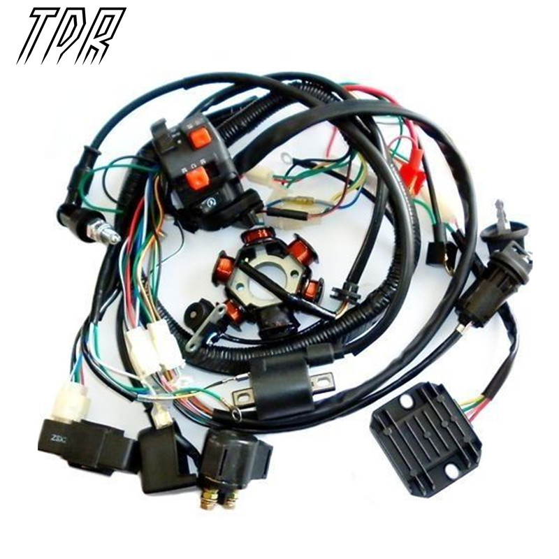 TDR Motorcycle font b Parts b font Wire Loom Harness Solenoid Magneto Coil Regulator CDI GY6 online buy wholesale 150cc atv parts from china 150cc atv parts  at reclaimingppi.co