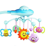 Best Quality Rattles Baby Toys Projecting Musical And Rotating Baby Mobile Musical Bed Bell With 50 Music For 0-12 Months(China)