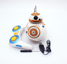 new Hot sales Star Wars 7 RC BB-8 Robot Star Wars 2.4G remote control BB8 robot intelligent small ball