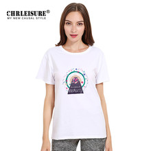 Chrleisure Women White Beauty T-shirt Letters Print Tops High Quality Cotton Breathable Summer Graphic Tops Tees Female Tshirt
