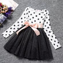Buy Autumn winter Girls Dress 2018 Casual Long Sleeves Spring Dots Kids Dresses Girl Children Party Clothing Cute Princess Dress for $3.39 in AliExpress store
