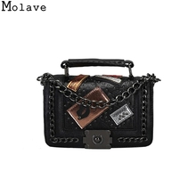 Molave Handbags Fashion badge chain bag retro stereotypes Tote Purse bag mini trend pack For Female Bolsas Femininas DEC7(China)