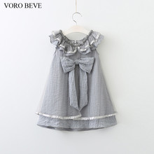 VORO BEVE 2017 Baby Girl Sun dress Spring And Summer New Cute Girl Dress Floral Dress Fashion Kids Clothes Girls lace butterfly