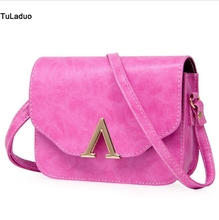 TuLaduo American Europe Popular Style Sac Solid Casual Leather Bags Women Nice Quality Cheap Free Match Over The Shoulder Bag
