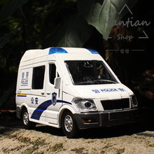 1:32 Alloy car model kids toys police car series Lingte police car Sound and light Back to power Children like the gift
