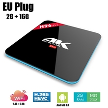 H96 PRO Smart Android TV Box Octa Core Amlogic S912 4K Set Top Box 2.4G 5.8G WiFi Bluetooth Media Player 2G / 3G RAM 16G ROM