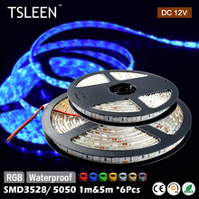 +Flash Sale+ 6Pcs DC12V RGB LED Strip Light SMD5050 Fita Led string Ribbon tape Bar Neon Festival Party Decoration Lampada #