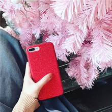 Soft silicone case for apple iphone 6s plus 6 s 7 plus 4.7 5.5 luxury beauty bling bling style ladies red cell phone cover coque