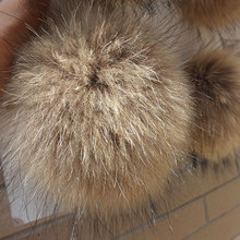 DIY Craft Supplies / Real raccoon fur ball Diameter 14cm / hand diy cell bag car keys Hair Accessories Many Uses / Wholesale(China)