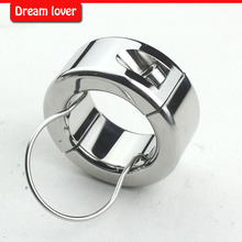 Buy 270g(9.5oz) Testicle Balls Scrotum Pendant Stainless Steel Ball Stretchers Cock Ring Locking Real Men CBT Sex Product