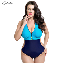Buy Plus Size Swimming Suit Women Sexy Bathing Suit One Piece Indoor Swimsuit Female Beach Bikinis Bather Red Blue Swimwear 2018