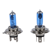 2 H4 SUPER WHITE Car HEADLIGHT Bulbs Bulb LAMP 12V 100W(China)