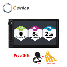 Ownice C500 Android 6.0 Octa 8 core Radio 2 DIN 2GB RAM 32GB ROM universal GPS radio wifi Support 4G LTE Network DAB+ no dvd(China)