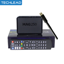 MAG250 IPTV TV Box with USB Wifi Adapter Linux 2.6.23 Operating System Ip tv Set Top Box MAG 250 Wifi media player Dlan XBMC Web