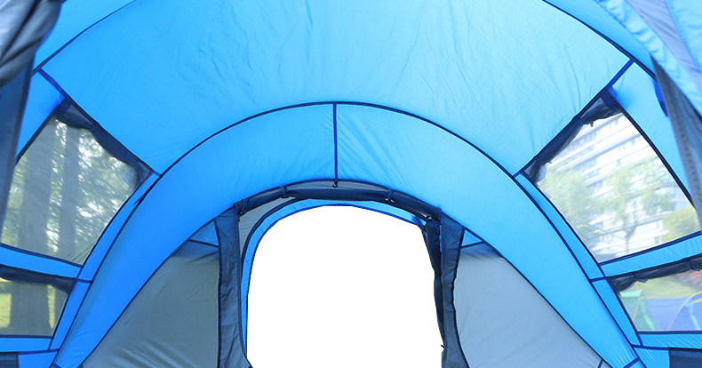 HYL camping pop up tent large 3-4 person windproof (18)