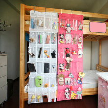 Special 24 Pockets Clear White Space Save Door Closet Hanging Shoes Storage Bag with Hooks 150*45cm Holder Organizer Wall Bag