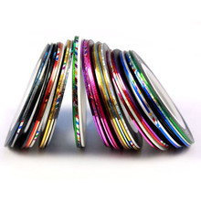 32 Color Rolls Striping Tape Line 3D Nail-Art nails Decorations new arrive Stickers stamper 2016 Beauty Brand nail stiker lot