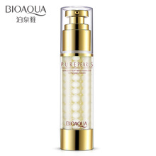 BIOAQUA Pearl Essence emulsion 60g facial firming lotion skin care Hydrating Water to moisturize anti-wrinkle anti aging cream(China)