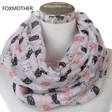 Free Shipping 2017 New Lovely Women Fashion Lightweight Soft White Cat Scarf
