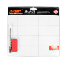 JAKEMY JM-Z09 Magnetic Project Mat Screw Work Pad with Marker Pen Eraser for Cell Phone Laptop Tablet iPhone Repair Tools Mat(China)