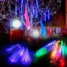 High bright Waterproof LED christmas lights 8pcs/set Snowfall Tube 50cm Meteor Rain Led Tube Light AC110-240V for holiday light