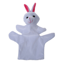 Cute Baby Child Zoo Farm Animal Hand Sock Glove Puppet Finger Sack Plush Toy NewModel:Rabbit(China)