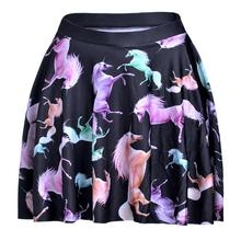 Colorful Horse Women Sexy Pleated Skirts Tennis Bowling Bust Shorts Skirts XXL Digital Print Female Fitness Apparel A Style