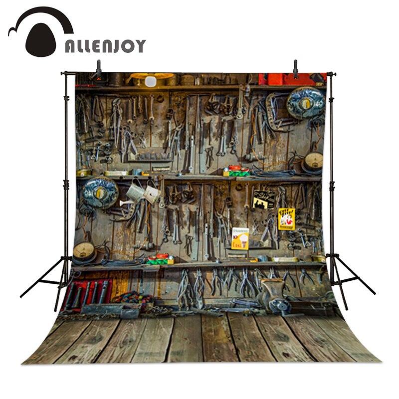 Allenjoy photography background baby 6.5x10ft(200x300cm) Repair shop mechanic repair tools fond studio<br><br>Aliexpress