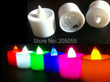 36pcs/lot 42mm Height Battery operated flameless led tea light for wedding Xmas Decor candle-7 COLORS optional(China)