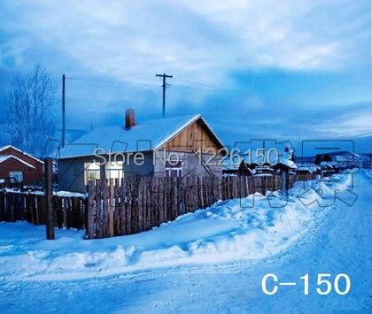 Free digital winter vinyl Backdrops, children christmas blue photography C-150,10x10ft Wedding Photo Backdrops<br>