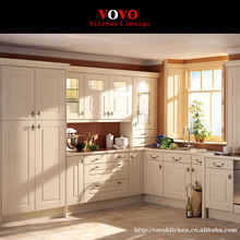 White imported real wood kitchen furniture China(China)
