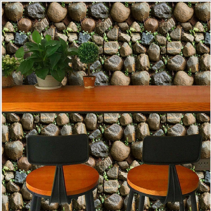 10 meter Self adhesive 3d wallpaper 3 D Stone  wallpapers Home Decor adhersive paper  DIY wallpaper papel de parede<br>