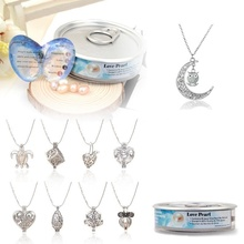love!1 Set Love Best Wish Necklace Pearl Necklace Oyster Drop Pendant Necklace 11 styles