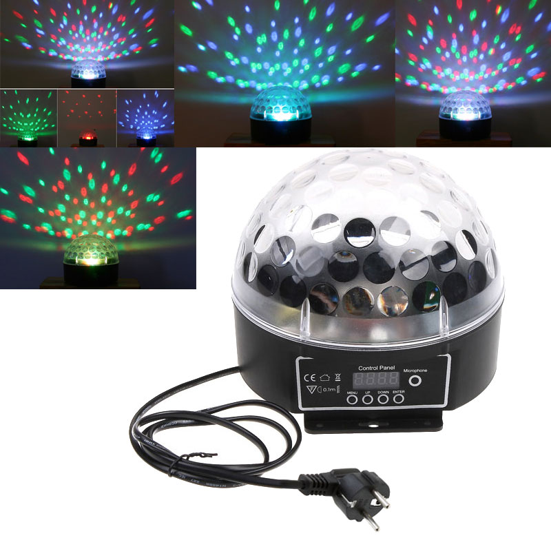 Music RGB Mini LED Crystal Magic Ball Stage Effect Lighting DJ Club Party Disco Stage Bulb Spot Lamps DMX512 with voice control<br><br>Aliexpress