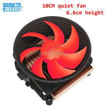 Pccooler cpu cooler 10cm quiet 4pin PWM fan for AMD AM2/3 FM Intel 775 1150 1151 1155 1156 computer pc cpu cooling radiator fan