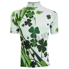Amur Leopard Women Cycling Jersey Short Sleeve Sports Wear Bicycle Clothing Clover Style Breathable