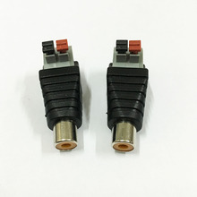 10Pcs CAT5 To Camera CCTV Video Balun RCA Female Jack AV Screw Terminal  Pressed Connector RCA Female to Terminal Block