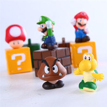 5 pcs Nintendo Super Mario Bros Action Figures Set New Super Mario Action Toy
