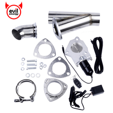 evil energy 2.5 Inch Size Stainless Steel Headers Y Pipe Electric Exhaust CutOut Kit With Remote Control(China)