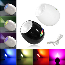 256 Colors LED Night Light Living Color Changeable Mood Lamp LED w/ Touchscreen Scroll Bar Romantic Atmosphere Lamp for Wedding(China)