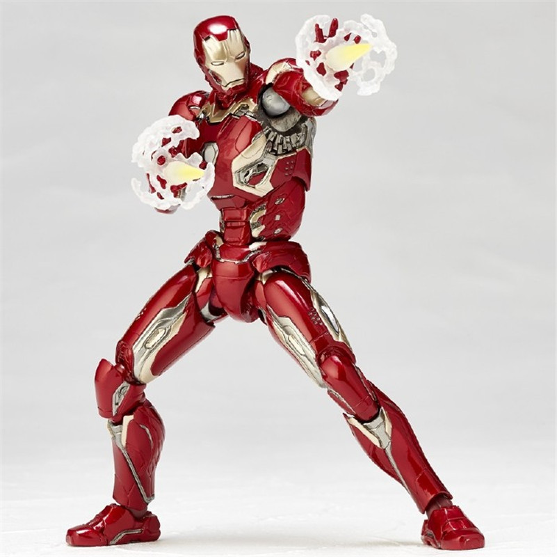 WVW 17CM Hot Sale The Avengers Movie Hero Iron Man Play Arts Model PVC Toy Action Figure Decoration For Collection Gift<br>
