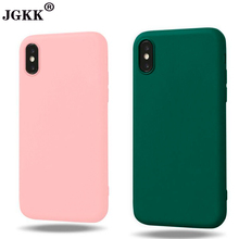 Buy JGKK iPhone 6 6s Case Candy Color Matte Soft TPU Back Cover Shell Coque iPhone X 8 6 6s 7 Plus 5 5s SE Cases Fundas for $1.19 in AliExpress store