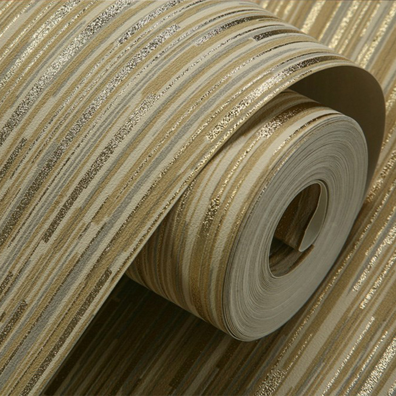 Modern Glitter Stripe Wallpaper For Walls 3 D Living Room Bedroom Background Wall Paper PVC Waterproof Home Decor Wallpaper Roll<br>