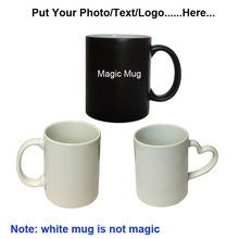 Drop shipping DIY Photo Magic Color Changing Coffee Mug custom your photo on best gift for friends Christmas