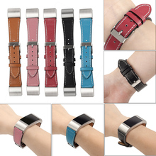 Hot Watch Band Strap for Fitbit Charge 2 band Leather Strap Fashion Genuine Soft Calf Luxe Classic Black Red Brown Blue Pink(China)