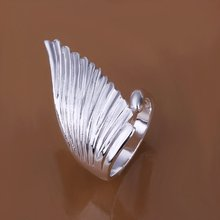 Free Shipping! R122 silver color wing of angle wedding ring,Fashion fairy Ring FOR girls,Factory Price